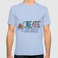 create Mens Fitted Tee Athletic Blue SMALL