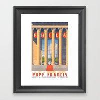 Philadelphia Welcomes Po… Framed Art Print