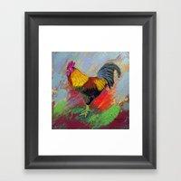Rooster-3/  Framed Art Print