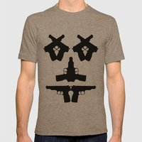 Pistol Face Mens Fitted Tee Tri-Coffee SMALL