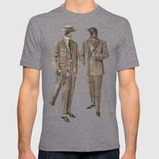 Birds of a Feather Mens Fitted Tee Tri-Grey SMALL