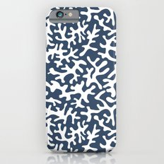 navy coral pattern Slim Case iPhone 6s