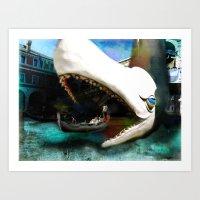 Whale Of A Ride Art Print