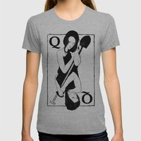 Queen Of Spades Womens Fitted Tee Athletic Grey SMALL
