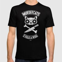 Murdercats Mens Fitted Tee Black SMALL