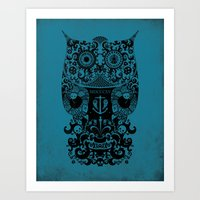 The Old Owl No.2 Art Print