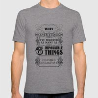 Alice In Wonderland Six … Mens Fitted Tee Tri-Grey SMALL