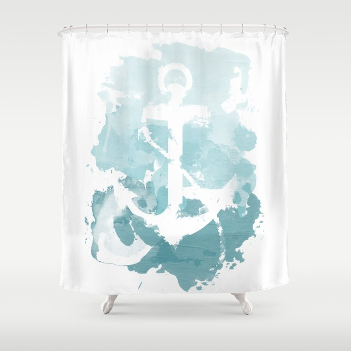 Nautical watercolor shower curtain by joeyj society6