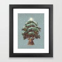 Reindeer Tree Framed Art Print