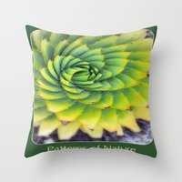 Patterns of Nature - succulent I Throw Pillow