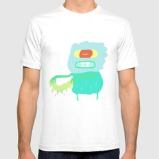 Drip monster White SMALL Mens Fitted Tee
