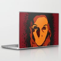 horror Laptop & iPad Skins featuring Horror by Square Lemon
