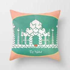 Taj Mahal is Love Throw Pillow