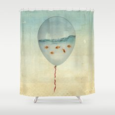 balloon fish Shower Curtain