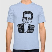 Life .. Uh .. Finds A Wa… Mens Fitted Tee Athletic Blue SMALL