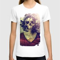 Miss Skull Womens Fitted Tee White SMALL