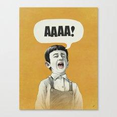 AAAA! (Golden) Canvas Print
