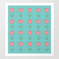 Color Me Pink with Spring Art Print