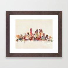 Minneapolis Minnesota Framed Art Print