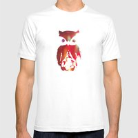 The Watcher - With Color Mens Fitted Tee White SMALL