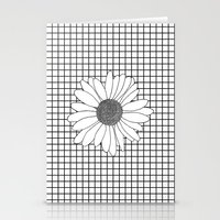 Daisy Grid Stationery Cards