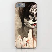 sugar skull iPhone & iPod Cases featuring sugar skull  by Joedunnz