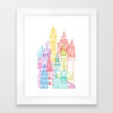 Glasgow Towers Framed Art Print