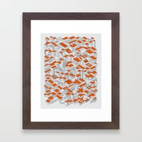 City Grid Day Print Framed Art Print