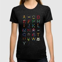 ABC SH Womens Fitted Tee Tri-Black SMALL