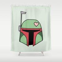 Boba Fett Valentine Shower Curtain