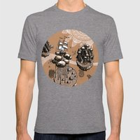 Flying Islands Mens Fitted Tee Tri-Grey SMALL