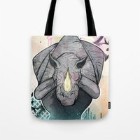 Tote Bag featuring Stampede Part 2 by Tom Ryan's Studio