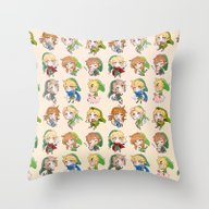 Link Cheebs Throw Pillow