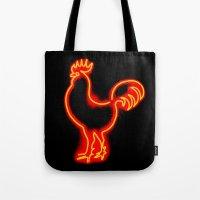 Glowing Cock Tote Bag