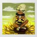 Bug Girls: Bee snack break Canvas Print