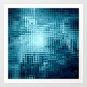 Nebula Pixels Art Print