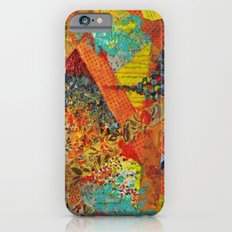 Pieces of Me - Gorgeous Bold Fabric Painting Collage Love Colorful Rainbow Yellow Red Stripes Floral iPhone 6s Slim Case