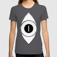 EYE Of Line Womens Fitted Tee Asphalt SMALL