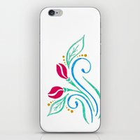 Abstract tulip motif iPhone & iPod Skin
