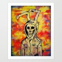 Death comes for Easter Art Print
