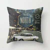 666 Miles North Throw Pillow