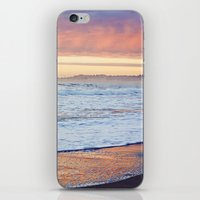 Vibrant Sunset over the Stacks at Huntington Beach, California iPhone & iPod Skin