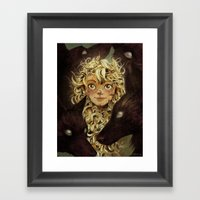 The Girl Raised by Foxes of the Northeast Framed Art Print