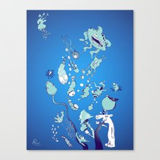 Aquatic Creatures Canvas Print