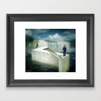 Un-stair Framed Art Print