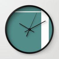 Teal Stripe (1) Wall Clock