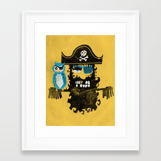 Trendy Pirate  Framed Art Print