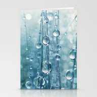 Blue Grass Drops II Stationery Cards