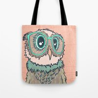 Owl Wearing Glasses II Tote Bag