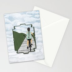 Cyclist From Behind Stationery Cards